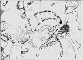 Space Ghost pages 5,6 pencils by CrimeRoyale
