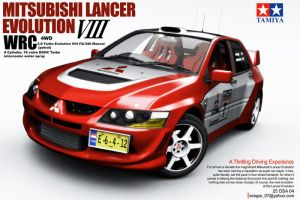 Mitsubishi Evolution VIII WRC by Siregar3D