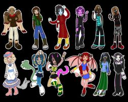 Cutest Little Cast: Monster High OCs by Prismativity