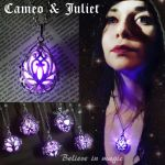 Magical purple glowing pendant by CatherinetteRings