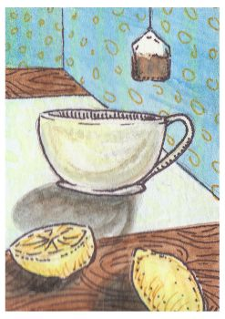 Lemon Tea ACEO by AshleighPopplewell