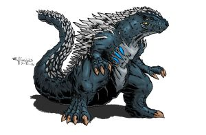 Kaiju Database - Gojira by absoluteweapon