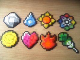 Kanto Badges by DisasterExe