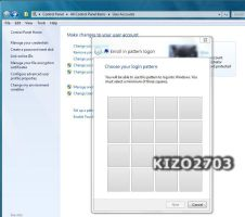 Pattern logon for touch screen by kizo2703