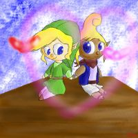 CE: Plushie Tetra and Link love by lifegiving