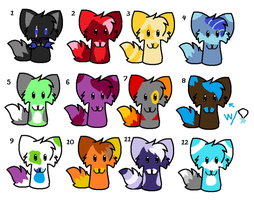 Adoptables! by Halloween1313
