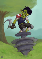Spinning Top Goblin by VariousCahoots
