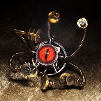 Steampunk Beholder sculpture by CatherinetteRings