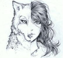 Wolf/Girl by bluemist72