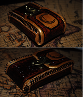 Crescent Moon Steampunk Pouch by MonkeyHeartless