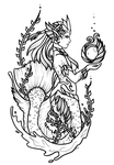 River Spirit Nami - Tattoo Design by sterces7