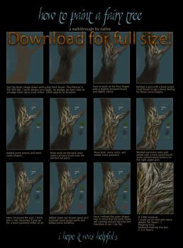 How to paint a fairy tree by nathie