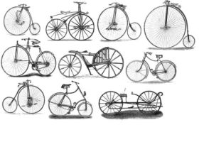 Victorian Bicycles by MsWolcottsStock