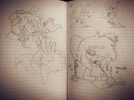 Doodle Dump Shit From School by Ann-ou