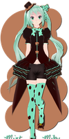 .:150+ Watcher's Gift:. Mint Miku by xkyarii