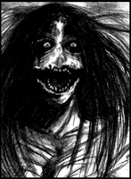 Open wide Kuchisake-Onna by Cageyshick05