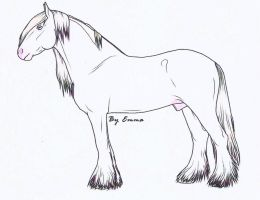 Auction Horse: Cremello Gypsy Vanner by Cross-Fox-Stables