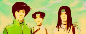 Naruto: TEAM GAI by starbuckets