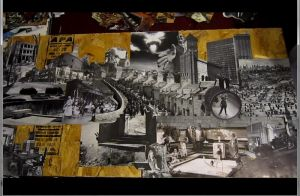 4x2 ft B/W collage in progress by PancreasSupervisor