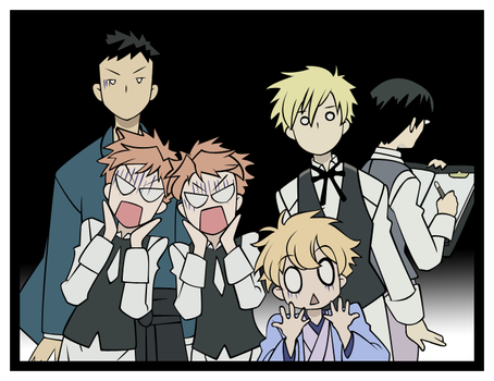 The Ouran HighSchool Host Club by tazaroo