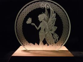 Butterfly Fairy Glass Art Etch by ImaginedGlass