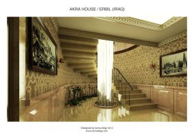 Akra House - Stairway Area by Semsa