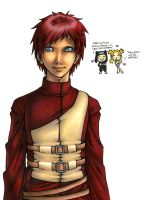 Gaara's First Smile by m3ru