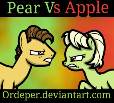 Pear Vs Apple by Ordeper