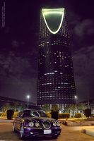 jaguar and Kingdom Tower by OmarAziz