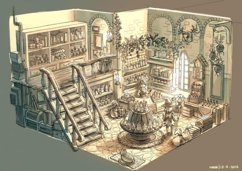 Potion Shop by anacathie