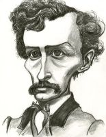 Caricature of John Wilkes Booth by Caricature80