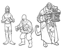 hellboy characters lines by jimmymcwicked