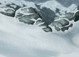 Free to use background - Snowfall by Whitefeathur