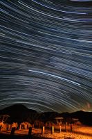 Afton Canyon Star Trails by DoomWillFindYou