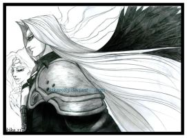 Sephiroth and Jenova by kika1983