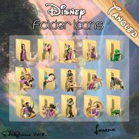 Disney Folder Icons - Tangled by EditQeens