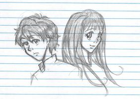Oreki and Chitanda by blackwingsxv