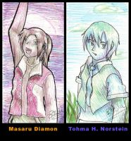 Digimon: Masaru and Tohma by Pink-Shimmer