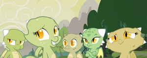 Jade and her siblings by QueenCold