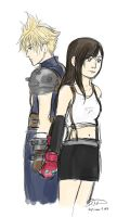 Cloud and Tifa by librachik
