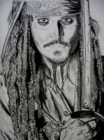 Johnny Depp Capt Jack Sparrow by C3120
