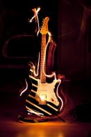 Guitar on Fire Ligthtpaint by Zuggamasta