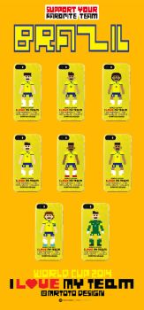 I Love My Team Pixel Graphic World Cup 2014 Brazil by totoproduction