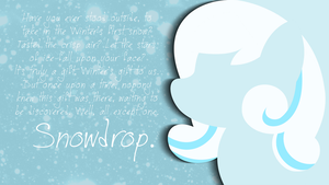 Wallpaper - Snowdrop by Psalmie