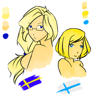 Sweden and Finland by american-pants