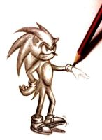 Sketch of Sonic. by Evangeline-Art