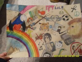 :BAD QUALITY: art class final by GalacticRainbow