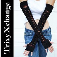 TX Knotted Red Arm Warmers by TrixyXchange