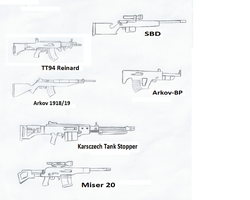 REQUEST: Eleven Territories Arsenal- Rifles by MegaBLYSTONE