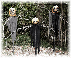 Pumpkinhead Scarecrows by LabyrinthCreations